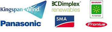 Approved and accredited installers of renewable energy technology from Kingspan, Dimplex, Panasonic, SMA, Fronius and Sharp