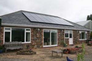 Black on slate solar panels