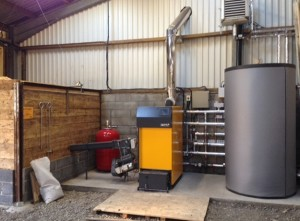 Biomass boiler at Chestnut Farm