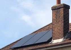 Solar PV panels on an Essex family roof