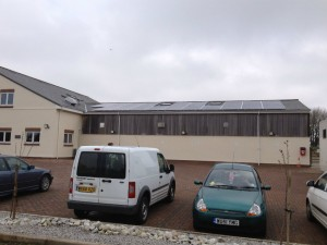 Solar panels at veterinary practice