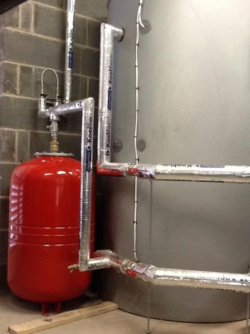 Biomass boiler installation at Burton Hathow Preparatory School