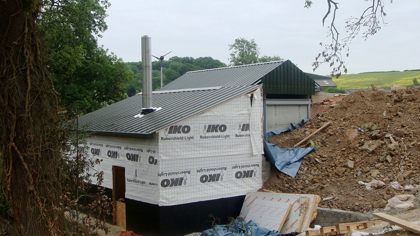 The Elephant House biomass boiler room taking shape