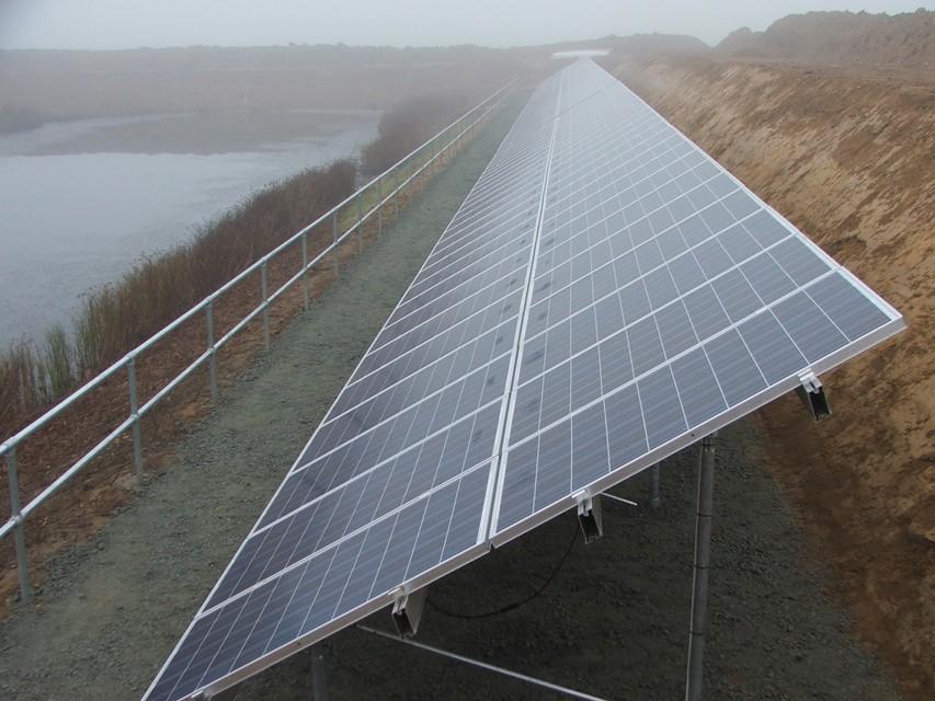 Oldbury Farm Solar PV array from the side