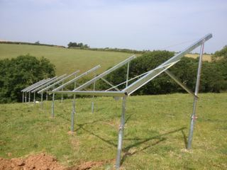 Angled for optimum performance and sheep grazing!