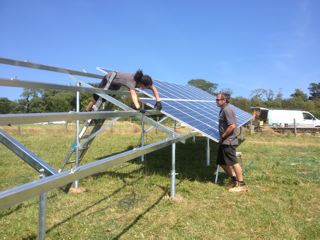 Solar PV panels installed at Lobbs Farm