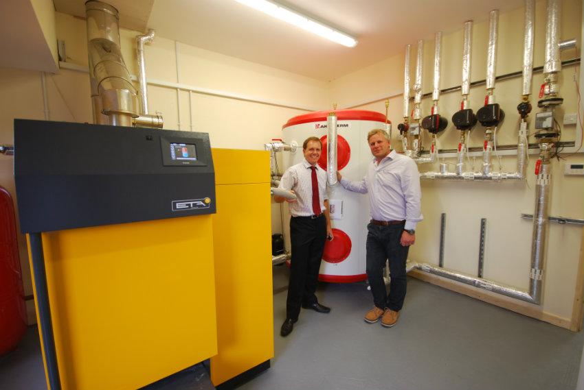 Biomass Boiler installation complete