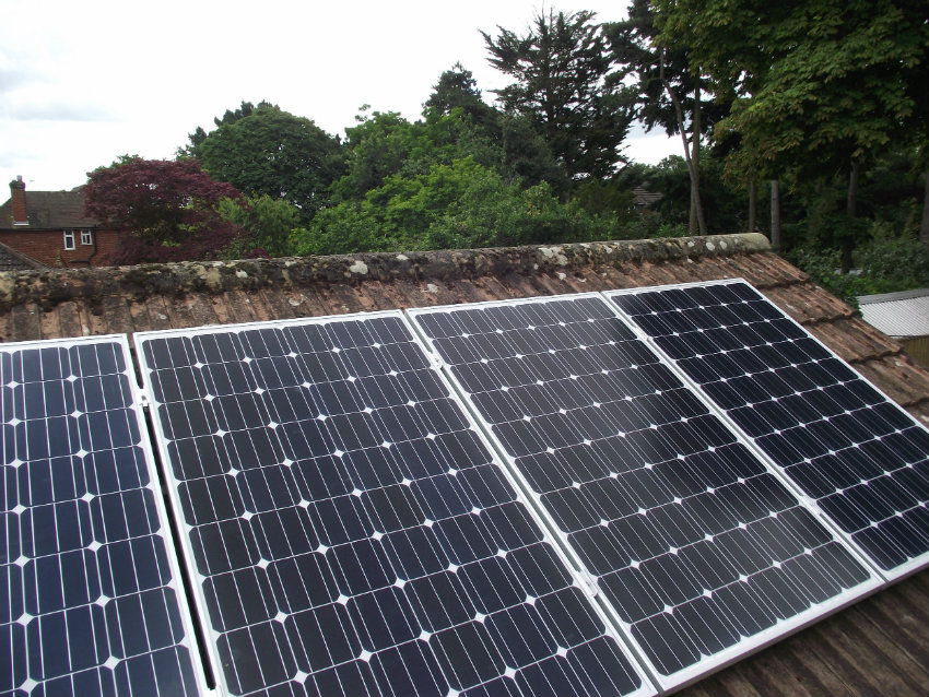 Solar panel installation complete