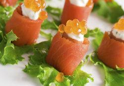 smoked salmon canape pic - medium - website pic