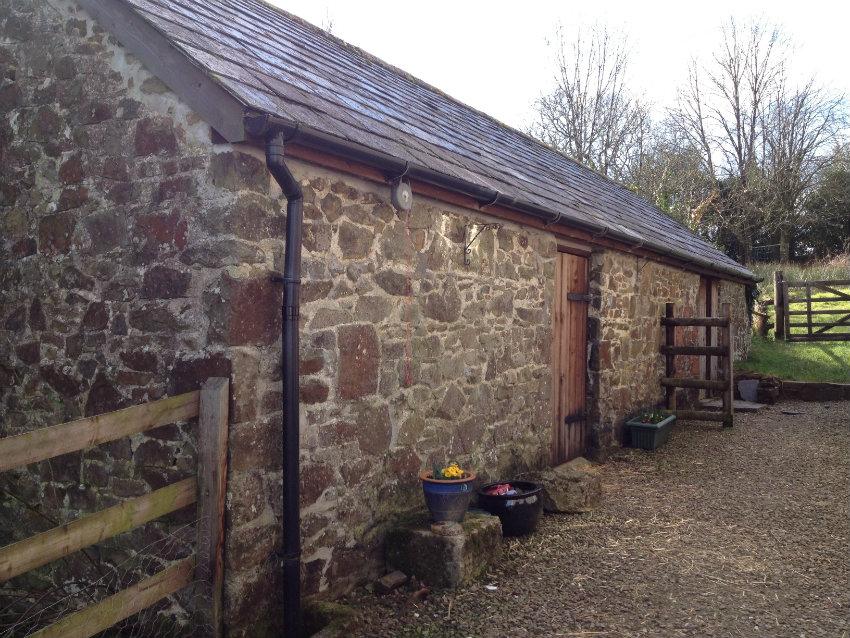 Barn housing boiler