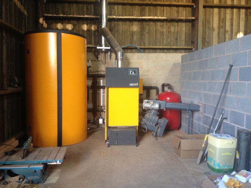 Boiler and buffer tank