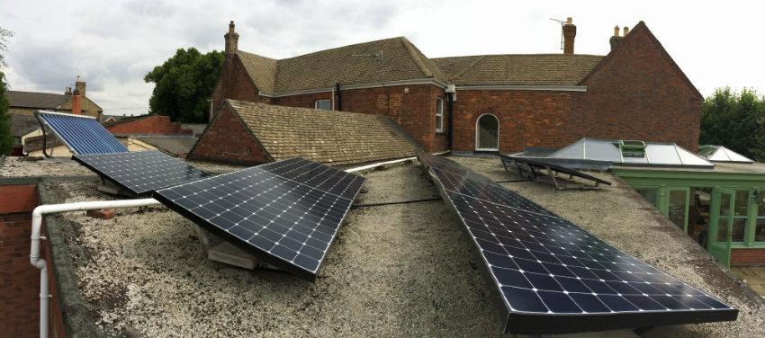 flat roof solar panels lincolnshire