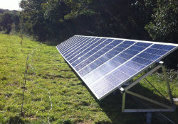 Ground Mounted Solar Panels At Cornwall Home Energymyway
