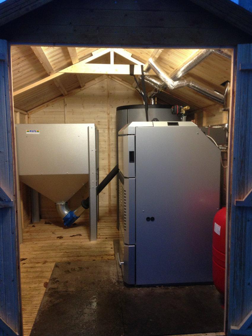 Effecta biomass boiler