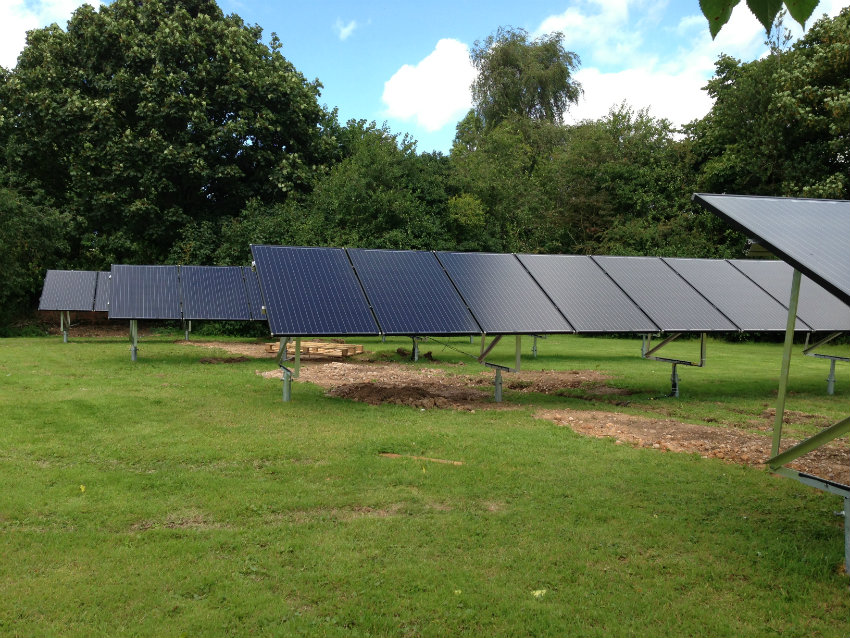 ground mounted solar PV cheshire