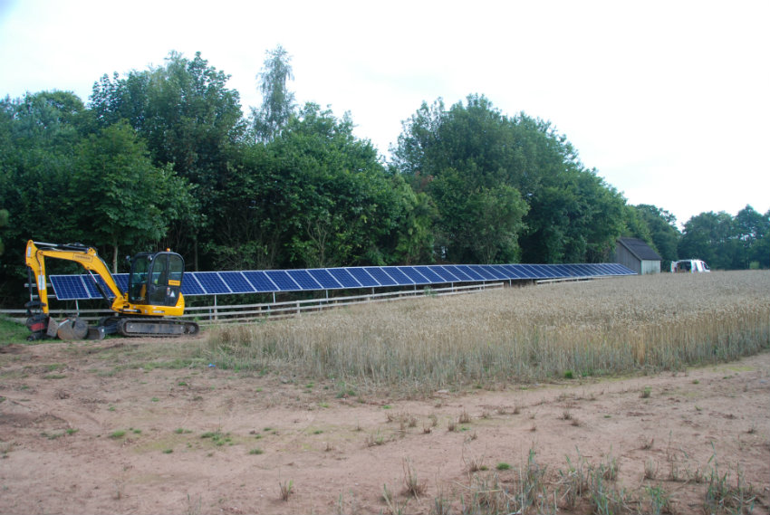 ground mounted solar installation