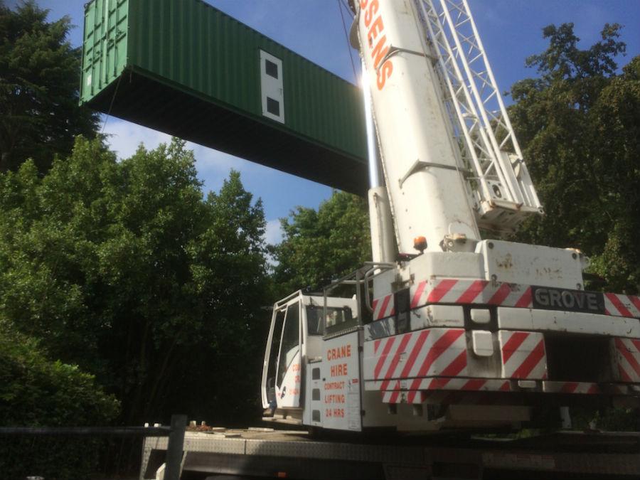 Saxon Court Crane Lift adj