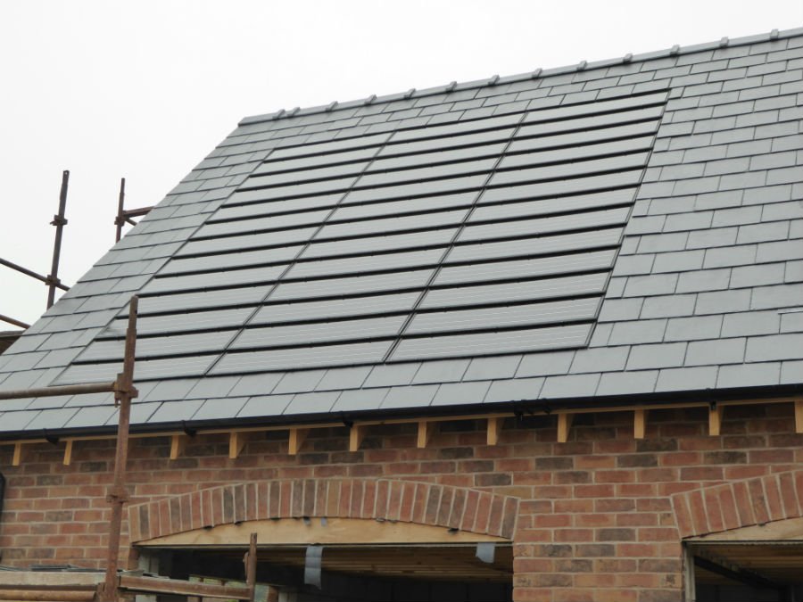 Roof Integrated Solar Tiles For Attractive Cheshire Home